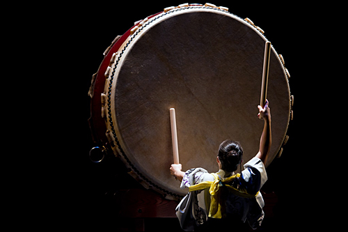 Large Japanese taiko